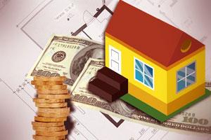 Dessin d'une maison et de billet de banque